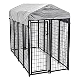 BestPet Heavy Duty Dog Cage –Outdoor Pet Playpen – This Pet Cage is Perfect for Containing Small Dogs and Animals. Included is a Roof and Water-Resistant Cover(8'x4'x6′ For Sale