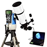 White 80mm Computer Controlled Refractor Telescope with 3MP Digital USB Camera