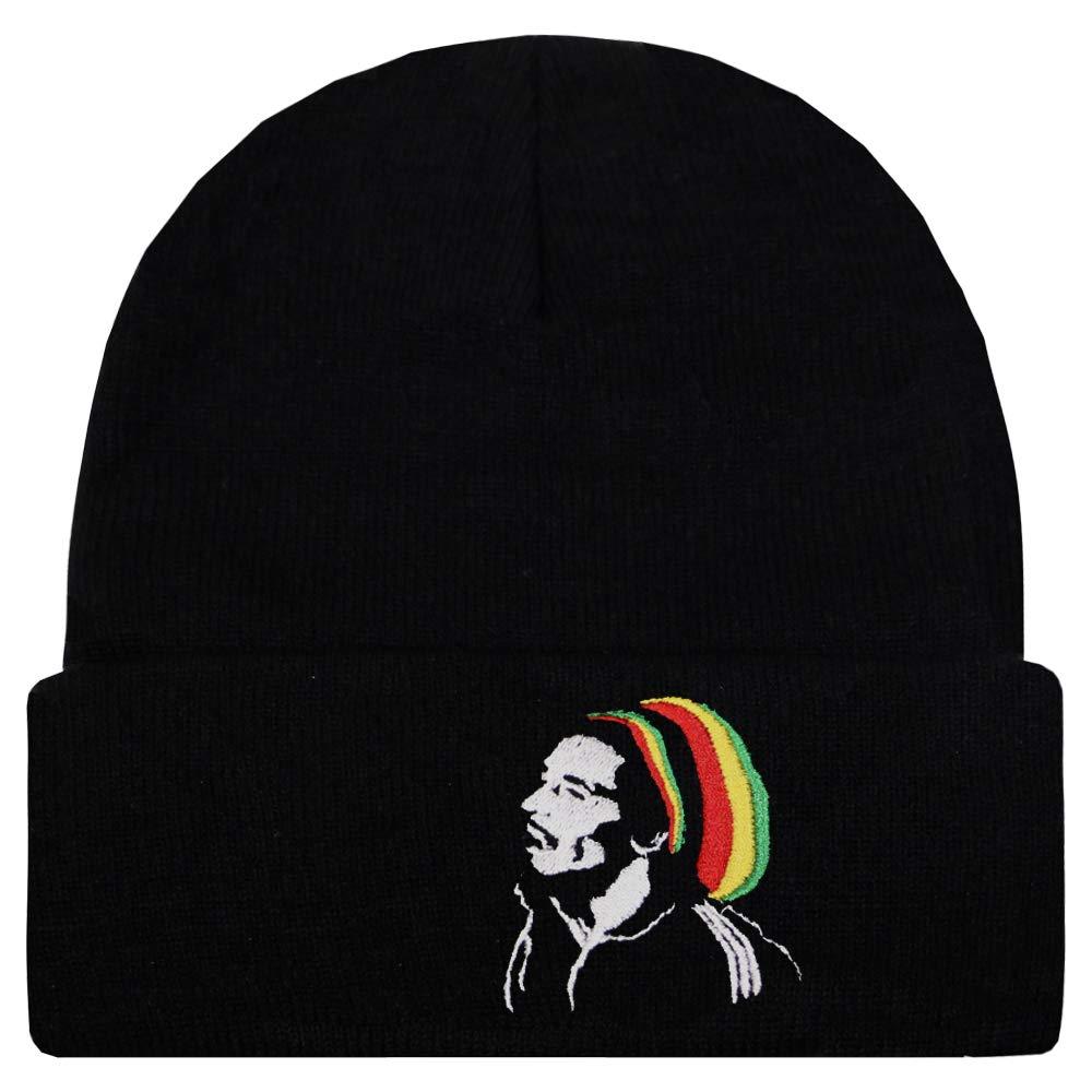 596221b4366 Amazon.com  City Hunter Sk901 Rasta Style Beanie Hats - 1770 Bob Marley   Clothing