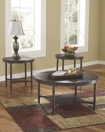Signature Design by Ashley Sandling 3 Piece Occasional Table