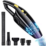 Handheld Vacuum Cleaner, ONSON Car Vacuum Cleaner, Powerful Suction Lightweight Cordless Vacuum with Rechargeable 12V Lithium Ion Battery for Kitchen Home and Pet Cleaning