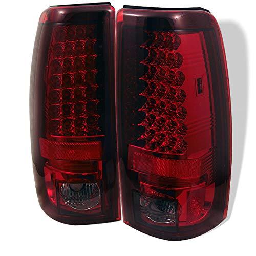 (For 03-06 Silverado 05-07 Silverado Hybrid Pickup Truck Red Smoke LED Tail Lights Brake Lamps)