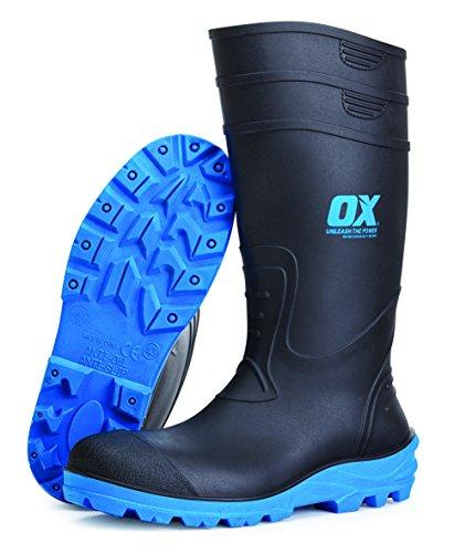 OX ox-s242412Sicherheit Gummistiefel, Schwarz/Blau, Gr. 12