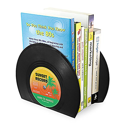 Caveen Bookends Black Metal Heavy Duty Book Ends Classic CD