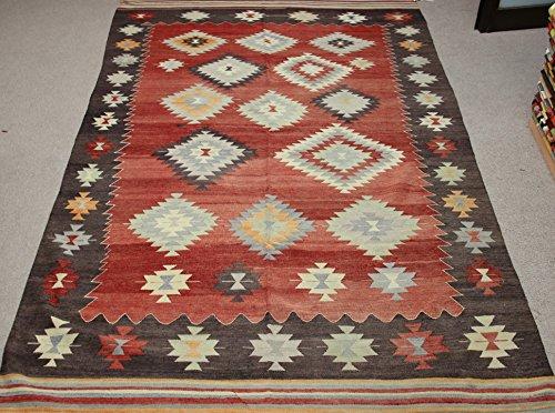 Decorative Vintage Kilim rug 9,2x5,5 feet Area rug Old Rug Bohemian Kilim Rug Floor rug Sofa Decor Rustic Kilim Rug