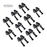 Echodo 10 Pairs Plastic Shoe Tree Stretcher Shaper for Men Adjustable Length Shoes Boot Holder Shaper Support