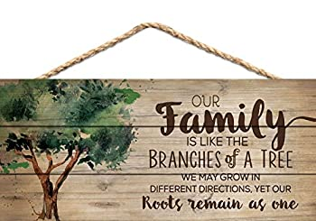 Our Family Like Branches on a Tree 5 x 10 Wood Plank Design Hanging Sign