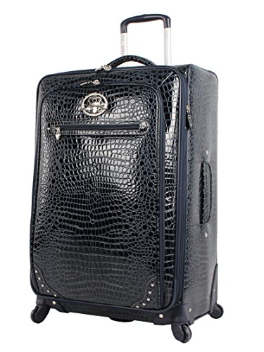 kathy-van-zeeland-luggage-croco-pvc-28-large-expandable-suitcase-with-spinner-wheels-28in-navy