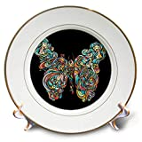 3dRose Ninhol – Animals - A Buttefly Shaped by a Woman and Elements of Nature. - 8 inch Porcelain Plate (cp_291331_1)