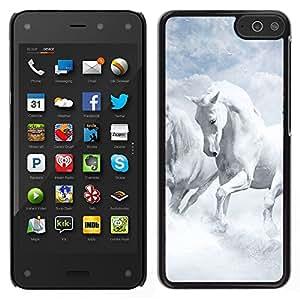 Stuss Case / Funda Carcasa protectora - White Horses Sky Nature Clouds God - Amazon Fire Phone