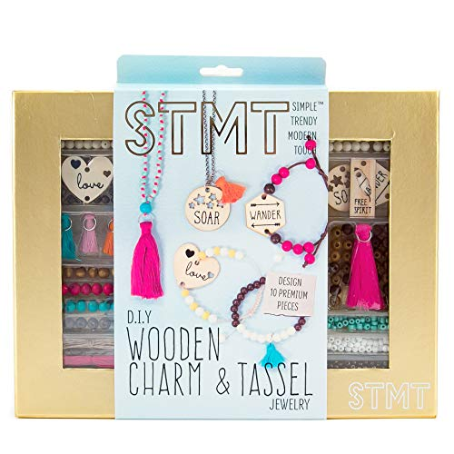 STMT DIY Wooden Charm & Tassel Jewelry by Horizon Group -