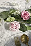 Floroom Artificial Flowers 25pcs Real Looking Blush