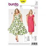 Burda Ladies Plus Size Sewing Pattern 6549 Dresses
