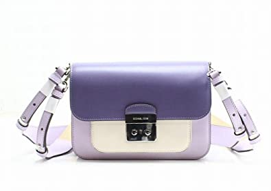 a481c625cd2a MICHAEL Michael Kors Sloan Editor Colorblock Leather Shoulder Bag , Light  Quartz /Light Cream /