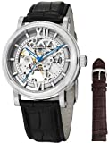 Stuhrling Original Men's 426AL.SET.01 Winchester XT Automatic Skeleton Leather Band Watch with Additional Strap, Watch Central