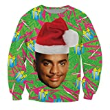 KSJK Unisex Funny Print Ugly Christmas Sweater Jumper 015 XXL