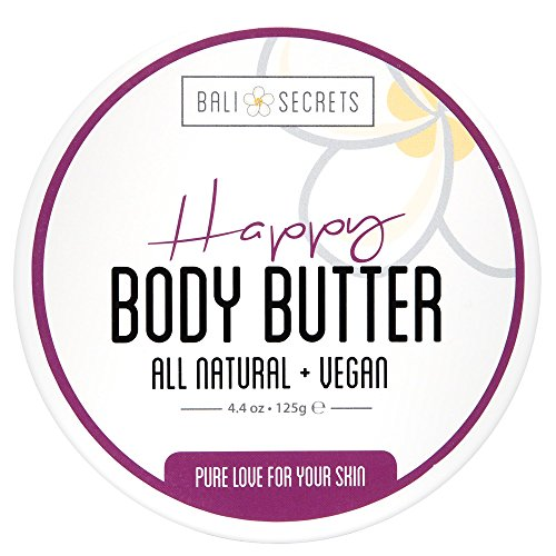 Price comparison product image Bali Secrets Happy Body Butter • All Natural Vegan Formula • Whipped Fluffy Goodness • Nourish & Protect • Reduce Cellulite & Stretch Marks • Pure Love For Your Skin