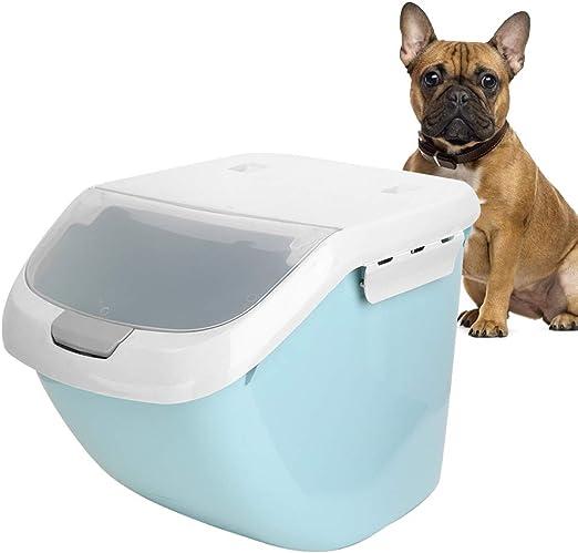 Recipiente para alimentos para mascotas, 4-5 Kg. Sellado a prueba de humedad. Caja de almacenamiento de comida para perros. Caja de almacenamiento de comida para gatos con taza medidora para perros.: Amazon.es: