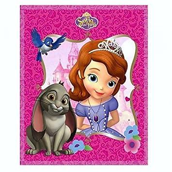 Disney Princesa - Princesita Sofía - Manta polar Amigos 100 x 150 cm