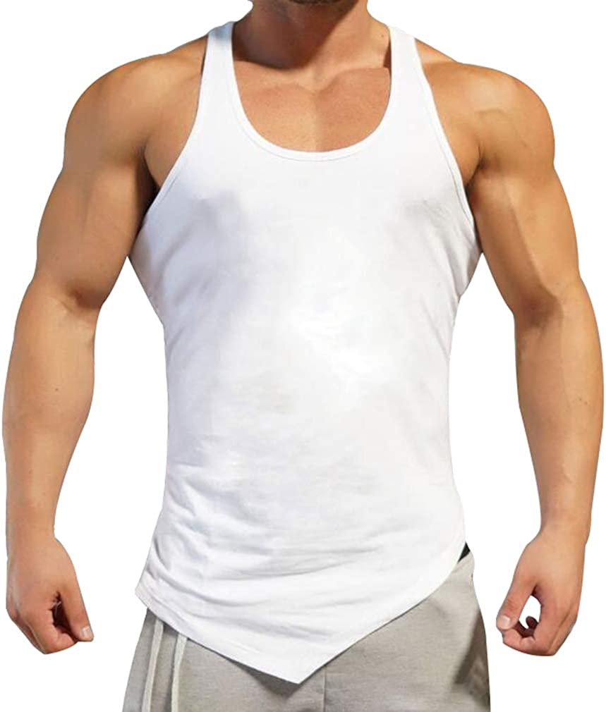 WEIMEITE Gyms Tank Top M/änner /Ärmellose T-Shirts Baumwolle Slim Fit M/änner Kleidung Bodybuilding Unterhemd Golds Fitness Tops Tees