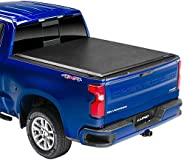 Lund Genesis Elite Roll Up, Soft Roll Up Truck Bed Tonneau Cover | 96893 | Fits 2014 - 2018 GMC Sierra & C
