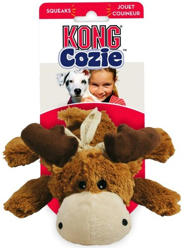 KONG Cozie Marvin the Moose, Medium Dog Toy, Brown, My Pet Supplies