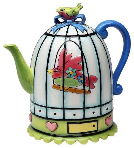 Appletree Design Flights of Fancy Teapot, 6-1/2-Inch ()
