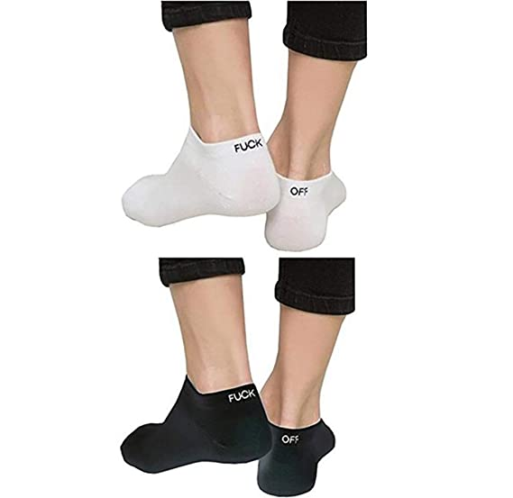 20ed747920ad2 Unisex Funny Fuck Off Letters Printed Low Cut Sport Socks for  Men,Women,Couples