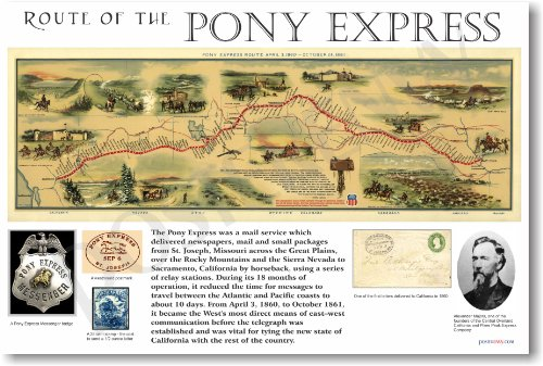 Pony Express - NEW Classroom Social Studies Poster (Pony Express Route)