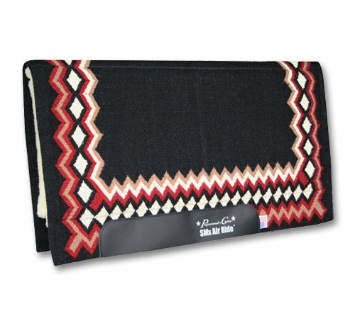Professionals Choice 34X36 Equine Smx Air-Ride Shilloh Saddle Pad (Black/Crimson Red)