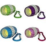 AlltroLite Egg Shaped Bling COB LED Keychain Flashlight - 4 Pack - Handheld Portable, Water & Shock Resistant - Ideal for Outdoors, Home, Emergency, or Gift-Giving - 4 Pack