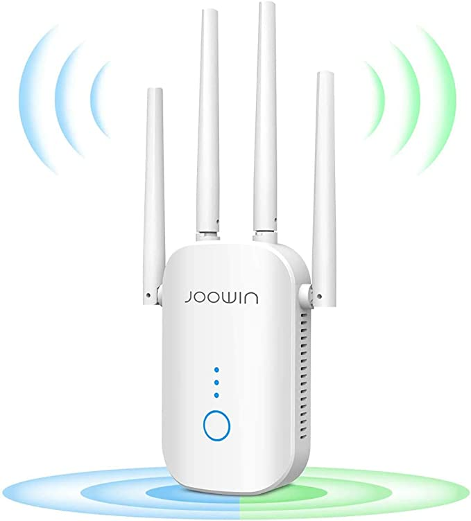 JOOWIN WiFi Repetidor 1200Mbps 2.4 GHz y 5GHz Amplificador de Señal de Red WiFi de Doble Frecuencia Punto de Acceso Inalámbrico Enrutador WiFi ...