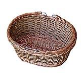 Oval Wicker Swing Handle Shopping Basket