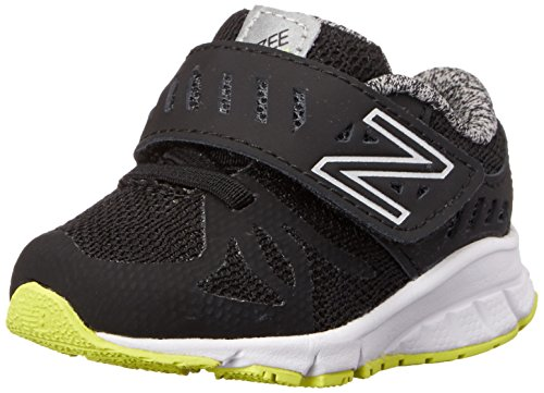 New Balance Vazee Rush I Running Shoe (Infant/Toddler), Black/Yellow, 5.5 M US Toddler