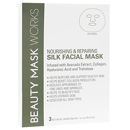 Beauty Mask Works Silk Fiber Nourishing and Repairing, 3 Count ()