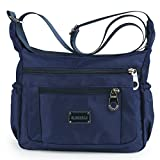 Crossbody Bags for Women Water Resistant Lightweight Nylon With Shoulder Bags (Navy blue)
