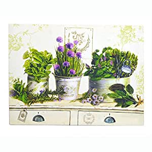 """Clémentine Créations-cuadro """"hierbas y flores violetas '35x 45"""