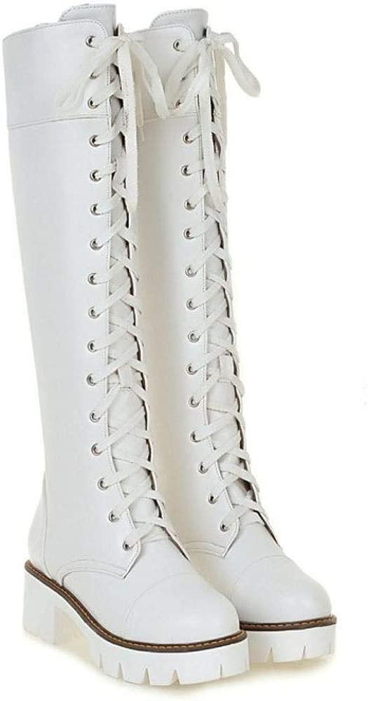 BeiaMina Mujer Moda Botas Altas Chunky Zapato