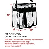 BeeGreen Stadium Clear Bags w Front Pocket and