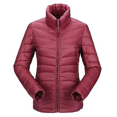 JJMG Womens Packabe Ultra Light Weight Down Coat Short Jacket Outwear Blazer