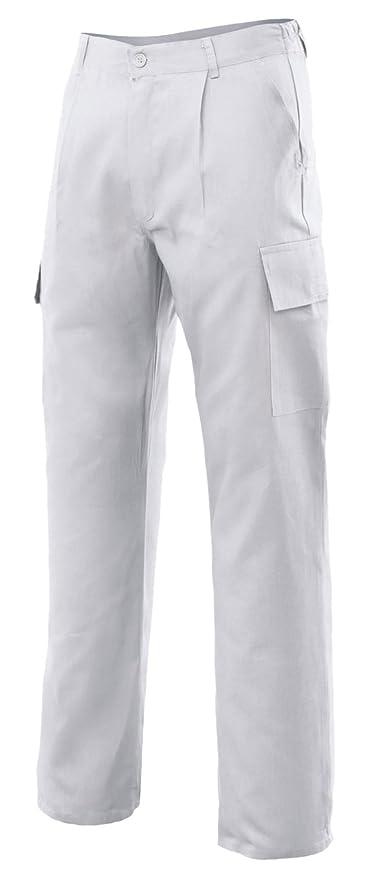 Velilla 31601 - Pantalón multibolsillos (talla 58) color blanco