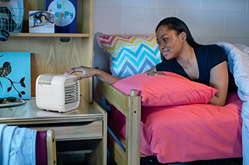 Homedics MyChill Personal Space Cooler, 4-Foot Cooling Area, Two Fan Speeds, Clean Tank Technology, Add Water, Plugs into 110v Outlet, Perfect for Office, Dorm, Nightstand, PAC-20 White by Homedics (Image #1)