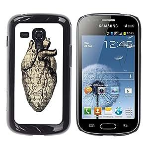 Dragon Case - FOR Samsung Galaxy S Duos S7562 - Forget the time - Caja protectora de pl??stico duro de la cubierta Dise?¡Ào Slim Fit
