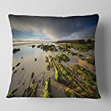 Designart CU14645-16-16 Furnas Virgin Beach Galicia Spain' Seashore Throw Cushion Pillow Cover for Living Room, Sofa, 16 in. x 16 in.