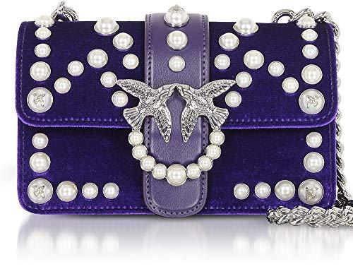 Sacs Spallaccio Velvet Velluto Pinko Pearls Viola portés C Mini Love épaule Pensiero Violet perle q8qRwA6