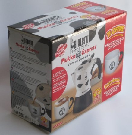 Bialetti Mukka Express 1-Cup Cappuccino Maker + One Exclusive Cup For - Express Mukka Bialetti