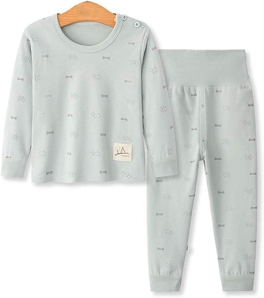 Girls Pyjamas Set Animal Print Girls Pjs Long Sleeve Cotton Sleepwear Tops /& Pants for Age 3-8 Years