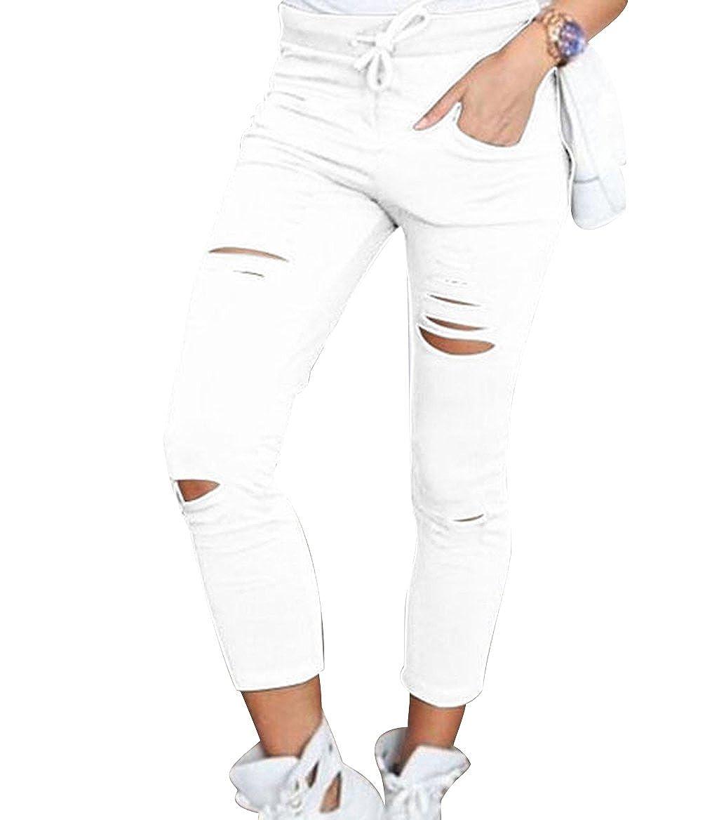 Leggings Isshe Pantalones Rotos Mujer Pantalon Skinny Slim Mujer Jeggings Leggins Push Up Senora Leggings Yoga Polainas Chandal Mallas Fitness Deporte Pantalones Deportivos Elasticos Mujer Ropa Reskill Uom Gr