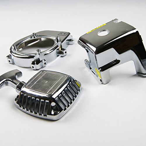 Chrome Engine Cover Flywheel cover Pull Starter for HPI Rovan KM Baja 5B 5T -