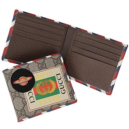 GUCCI(グッチ) 財布 メンズ 二つ折り クーリエ Courrier gg スプリーム メンズ 二つ折り財布 473905 K9GQT 8899 [並行輸入品] B07GKV8FBN